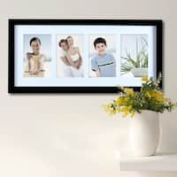"Adeco 4-photo Black Wood 4""x6"" Matted Picture Frame"