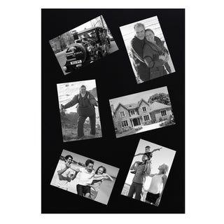 Adeco Decorative Black Rectangular Wall Hanging Collage Slanted 4x6 Photo Frame with 6 Openings