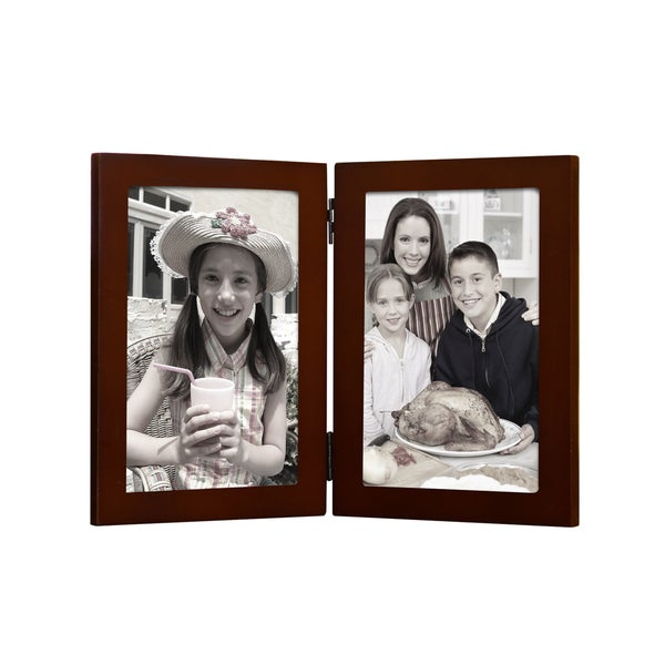 Shop Walnut Color Wood Hinged Table Top Vertical 5x7 Inch Photo