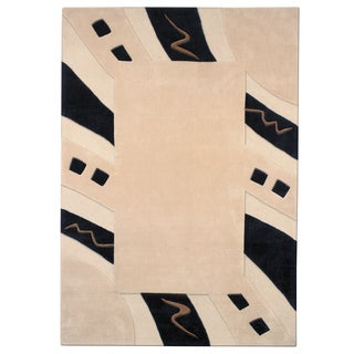 Mystique Abstract Border Rug (5.3 x 7.7)