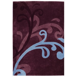 Mystique Wine Splash Rug (5.3 x 7.7)