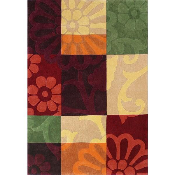 Mystique Hand-tufted Color Block Rug - 6'7 x 9'7
