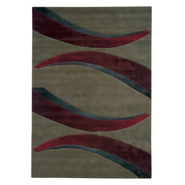 Mystique Red Arches Rug - 6.7 x 9.6
