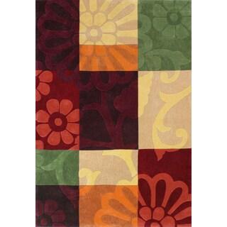 Mystique Hand-tufted Color Block Rug (7'1 x 10'1)