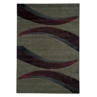 Mystique Red Arches Rug (7.10 x 10.10)