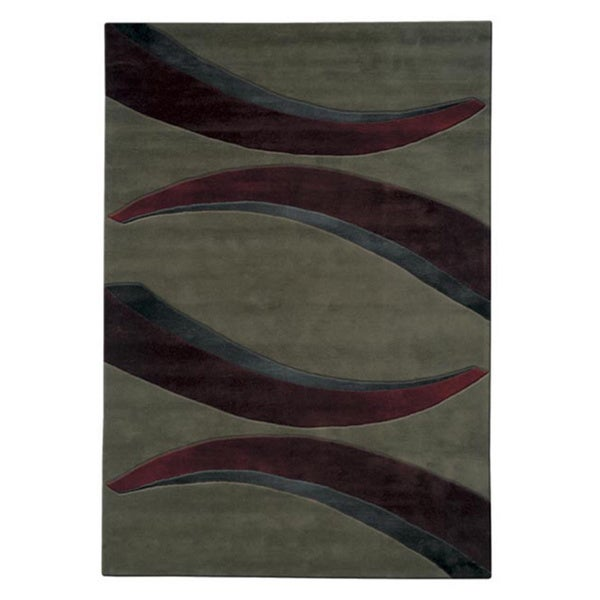 Mystique Red Arches Rug (7.10 x 10.10) - 7'10 x 10'10