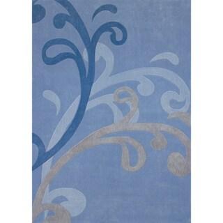 Mystique Blue Splash Rug (7.10 x 10.10)