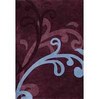 Mystique Wine Splash Rug (7.10 x 10.10)