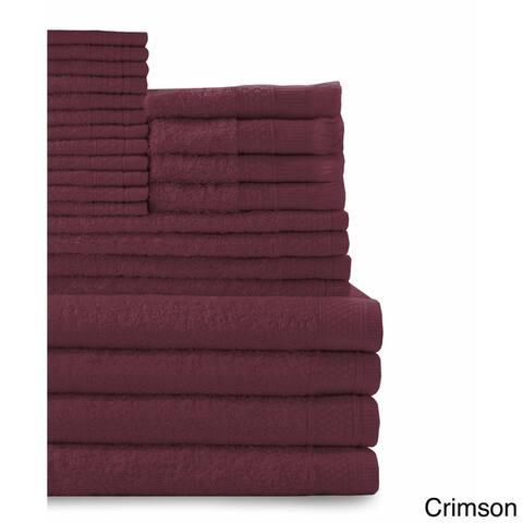 Cotton 24-piece Towel Set with Fingertip Towels