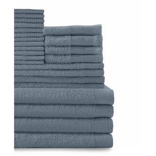 Cotton 24-piece Towel Set with Fingertip Towels