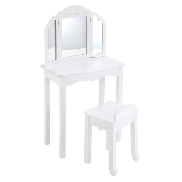 Guidecraft Expressions Vanity And Stool White Free