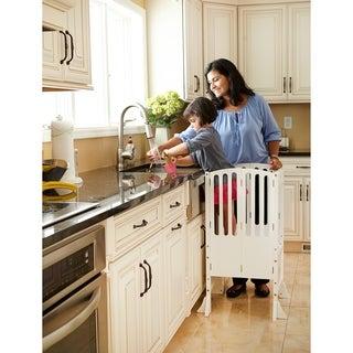 Shop Guidecraft Contemporary Kitchen Helper White Free