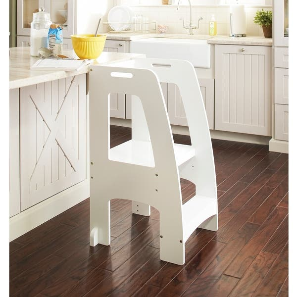 Tremendous Shop Guidecraft Step Up Kitchen Helper White Free Shipping Caraccident5 Cool Chair Designs And Ideas Caraccident5Info