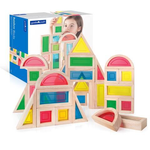 Guidecraft Rainbow Blocks 30-piece Set