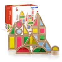 Guidecraft Jr Rainbow Block 40-piece Set