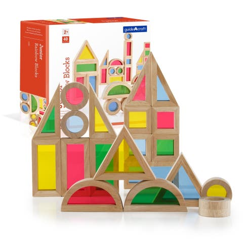 Guidecraft Jr Rainbow Block 40-piece Set