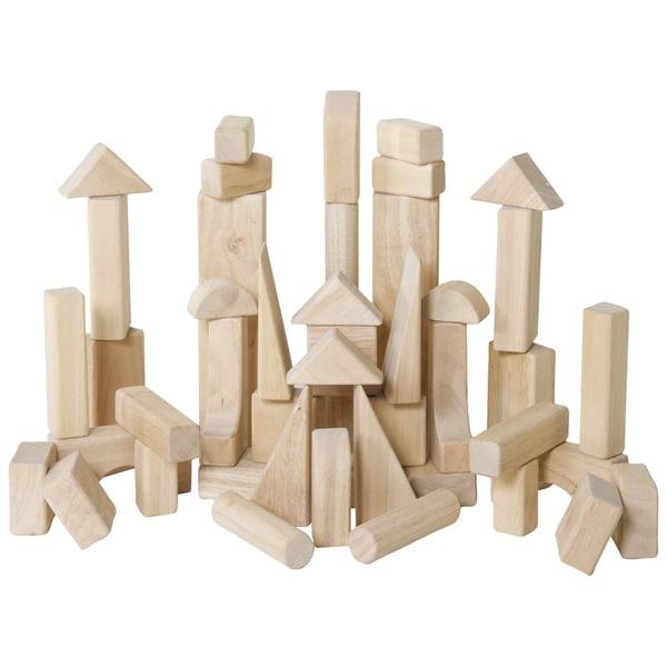 Guidecraft Classroom Unit Blocks 45-piece