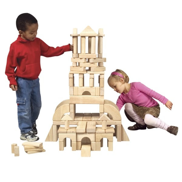 Guidecraft Classroom Unit Blocks 110-piece