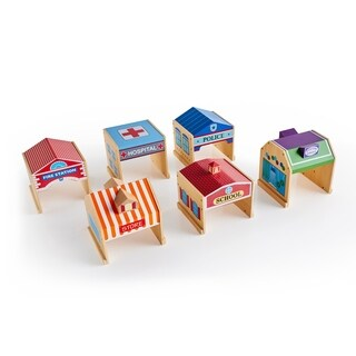 Guidecraft Community Buildings Set of 6
