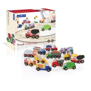Guidecraft Wooden Truck Collection Set of 12
