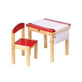 Guidecraft Red Art Desk and Chair Set