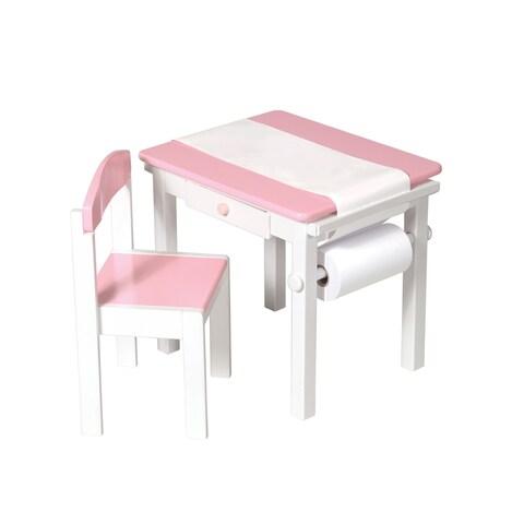 Guidecraft Pink Art Desk and Chair Set