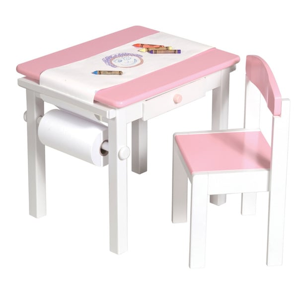 Shop Guidecraft Pink Art Desk and Chair Set - Free Shipping Today ...