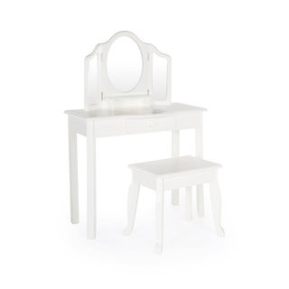 Guidecraft Classic White Vanity and Stool
