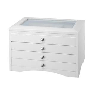 Elegant Elizabeth 3-drawer White Jewelry Box