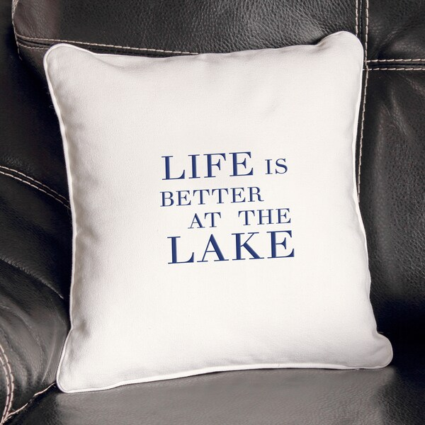 Shop Lake House Throw Pillow Free Shipping On Orders