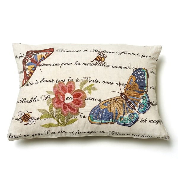 Marine Butterfly Throw Pillow