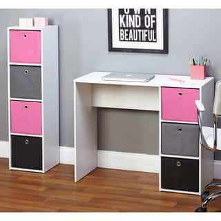 Simple Living Jolie Pink Writing Desk and Bookcase Set|https://ak1.ostkcdn.com/images/products/9064748/P16258498.jpg?impolicy=medium