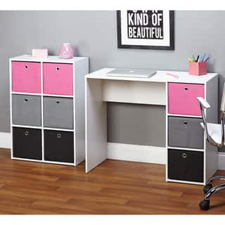 Simple Living Jolie Large Pink Writing Desk and Bookcase Set|https://ak1.ostkcdn.com/images/products/9064756/P16258496.jpg?impolicy=medium
