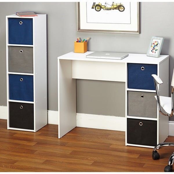 Simple Living Jolie Blue Writing Desk and Bookcase Set ...