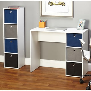 Simple Living Jolie Blue Writing Desk and Bookcase Set