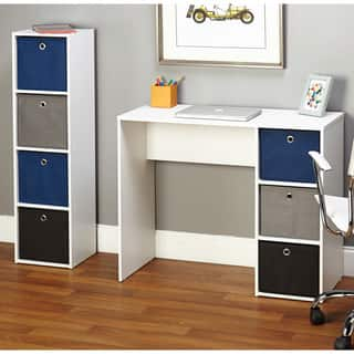 Simple Living Jolie Blue Writing Desk and Bookcase Set|https://ak1.ostkcdn.com/images/products/9064758/P16258495.jpg?impolicy=medium