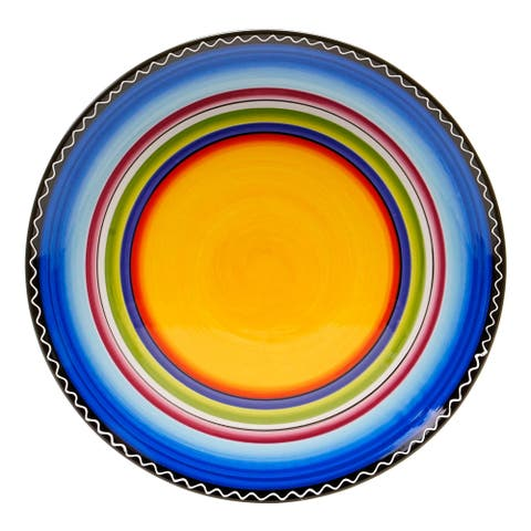 Certified International Tequila Sunrise Round Serving Platter