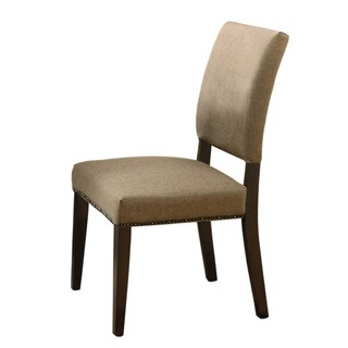 Myrtle Nailhead Trim Taupe Side Chair
