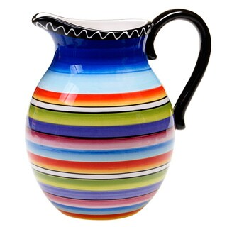 Hand-painted Tequila Sunrise 2.75-quart Pitcher
