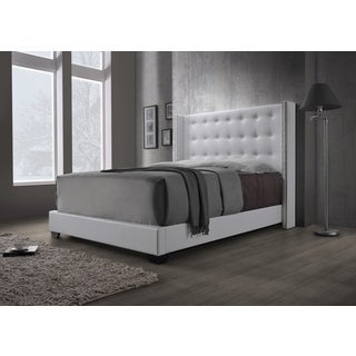 DG Casa Savoy Wingback White Bed