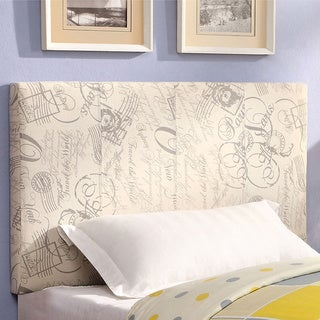 Furniture of America Kutty Adjustable Upholstered Conversion Headboard