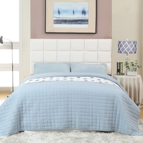 Sherolle Contemporary Brown Upholstered Tufted Headboard by FOA