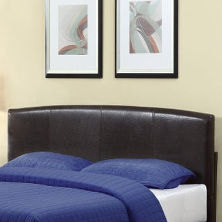 Arched Chocolate Synthetic Leather Headboard (2 options available)