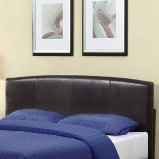 Arched Chocolate Synthetic Leather Headboard