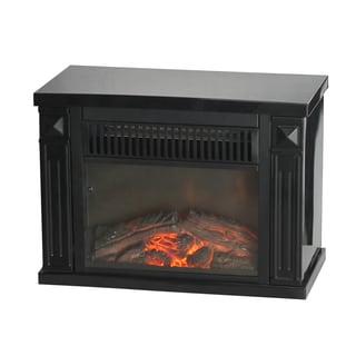 World Marketing EMF161 Black Bookshelf Mini Fireplace Heater