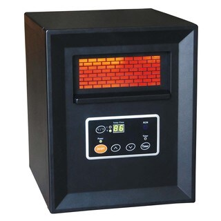 World Marketing QDE1340 Black Compact Quartz Heater