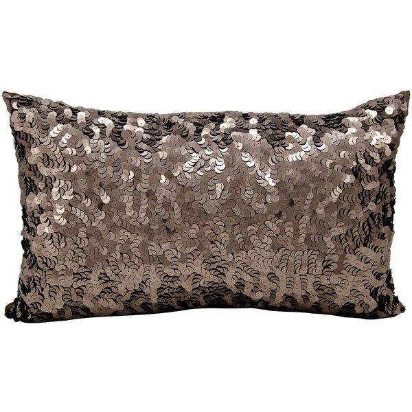 Michael Amini Circle Sequin Bronze Throw Pillow (12-inch x 20-inch) by Nourison