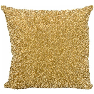 Michael Amini Sequins and Seed Beads Gold Throw Pillow (16-inch x 16-inch) by Nourison