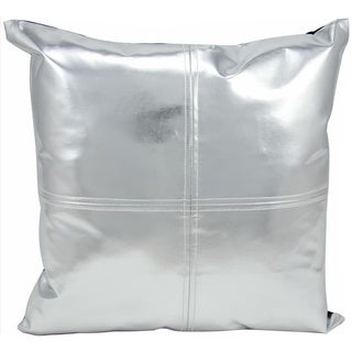 Michael Amini Metallic Silver Throw Pillow (16-inch x 16-inch) by Nourison
