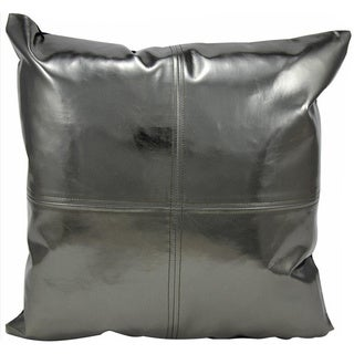 Michael Amini Metallic Pewter Throw Pillow (16-inch x 16-inch) by Nourison